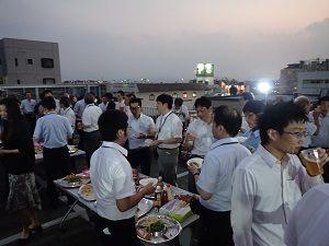 屋上ビアパーティー②